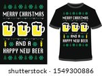 merry christmas and happy new... | Shutterstock .eps vector #1549300886