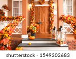 House Entrance Decorated For...