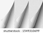 paper white curled corner set   Shutterstock .eps vector #1549310699