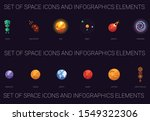 set of space icons infographic... | Shutterstock .eps vector #1549322306