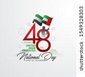 uae national day celebration... | Shutterstock .eps vector #1549328303