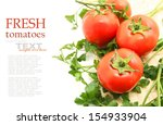 fresh tomato with parsley... | Shutterstock . vector #154933904
