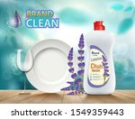 bottle with dishwashing liquid... | Shutterstock .eps vector #1549359443