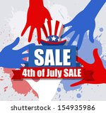 sale banner   4th of july... | Shutterstock .eps vector #154935986