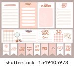 collection of weekly or daily... | Shutterstock .eps vector #1549405973