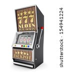 slot machine  gamble machine on ... | Shutterstock . vector #154941224