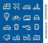 transportation symbol line icon ... | Shutterstock .eps vector #154942340