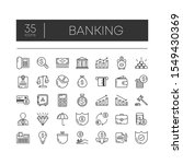 set of 35 line icons of banking ... | Shutterstock .eps vector #1549430369