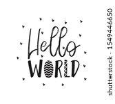 hello world  nursery poster in... | Shutterstock .eps vector #1549446650