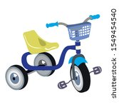 Kid Tricycle Icon. Cartoon Of...