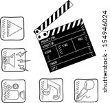 film set  clapper . vector... | Shutterstock .eps vector #154946024