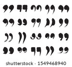 Speech Marks  Quote Sign Icons. ...
