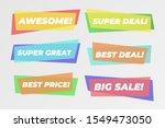 modern sales banner set with... | Shutterstock .eps vector #1549473050