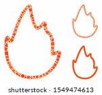 fire contour mosaic of tuberous ... | Shutterstock .eps vector #1549474613