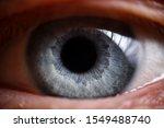 Blue Human Eye Extreme Closeup...
