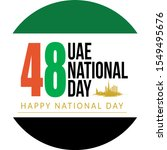 uae national day illustration... | Shutterstock .eps vector #1549495676