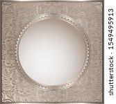 vintage vector frame with... | Shutterstock .eps vector #1549495913