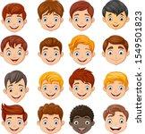 set of cartoon children head | Shutterstock .eps vector #1549501823