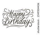 happy birthday doodle hand... | Shutterstock .eps vector #1549504436