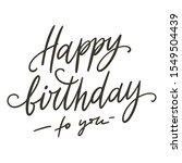 happy birthday doodle hand... | Shutterstock .eps vector #1549504439