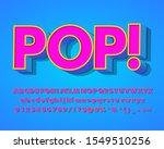 3d pop art style text effect... | Shutterstock .eps vector #1549510256