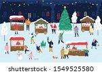 Christmas Market Vector...