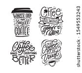 Hand Drawn Coffee Quotes Set....
