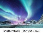 Aurora Borealis On The Lofoten...