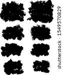black ink style splash  blobs... | Shutterstock .eps vector #1549570829