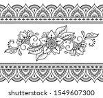 seamless pattern of mehndi...