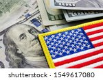Small photo of USA flag and money. Cash for VA loan from U.S. Department of Veterans Affairs.
