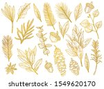 graphic set of gold christmas... | Shutterstock .eps vector #1549620170