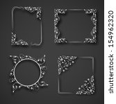 set of floral decorated photo... | Shutterstock .eps vector #154962320