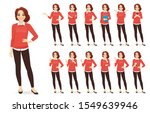 casual business woman character ... | Shutterstock .eps vector #1549639946