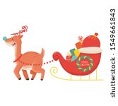 funny christmas reindeer with... | Shutterstock .eps vector #1549661843