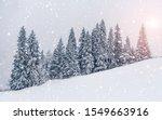 beautiful sunset at winter...   Shutterstock . vector #1549663916