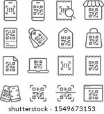 qr code icons set vector... | Shutterstock .eps vector #1549673153