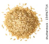 whole rice pile from top on... | Shutterstock . vector #154967714