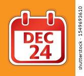 december 24 calendar day vector ...