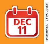 december 11 calendar day vector ...