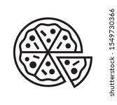 pizza icon in trendy outline...