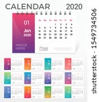 desk calendar 2020. simple... | Shutterstock .eps vector #1549734506