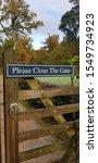 Please Close The Gate Sign.