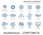 Machine Learning Line Icons ...