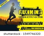 running silhouettes. vector... | Shutterstock .eps vector #1549746320
