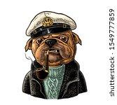Sea Dog Smoking A Pipe And...