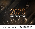 gold 2020 happy new year winter ... | Shutterstock .eps vector #1549782893