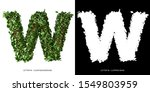 Letter W Uppercase With Tree...