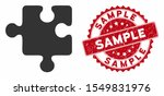 vector puzzle detail icon and... | Shutterstock .eps vector #1549831976