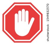 stop sign  icon hand vector.... | Shutterstock .eps vector #1549832570